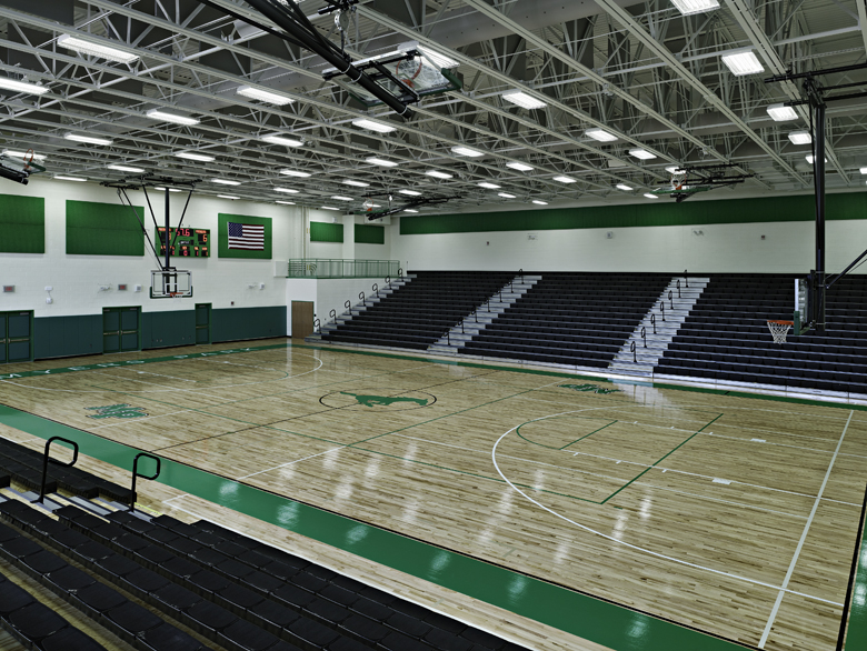 Myers park high school gymnasium camps construction for Schule design